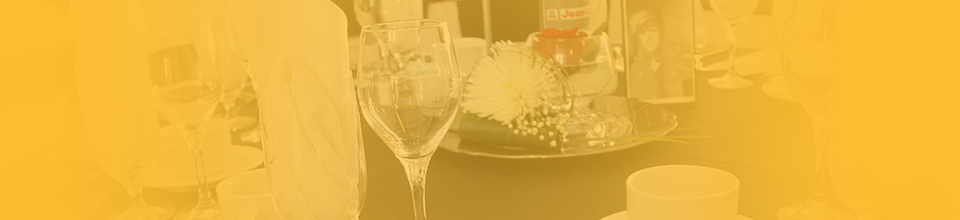Photo of a table at an HGH red carpet event