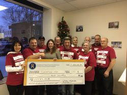 Hawkesbury Car Club members donate $1,000 to HGH Foundation.