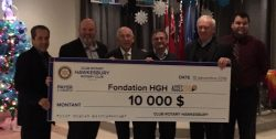 Hawkesbury Rotary Club donates $10,000 to HGH Foundation.