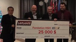 Laplante Chevrolet Buick GMC from Hawkesbury donates $25,000 to HGH Foundation.