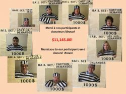 Thanks to our Bailout participants. They raised $11,145.