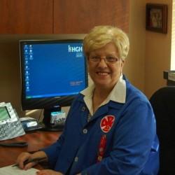 Photographie de Mireille Lauzon-Dauth, présidente des Amis de l'HGH