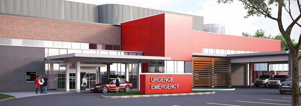 3D rendering of the HGH redevelopment project