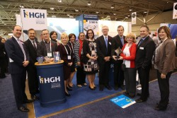Members of HGH Team and OHA leaders at the HGH exhibit