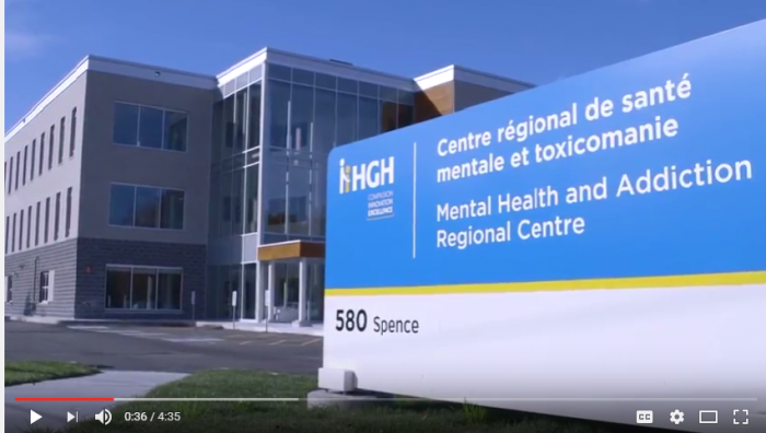 HGH Mental Health and Addiction Regional Centre is a three-storey purpose-built building. Watch the video.