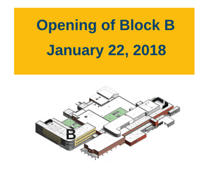 Opening of Block B January 22 2018